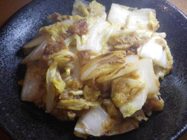 白菜だけを使った料理